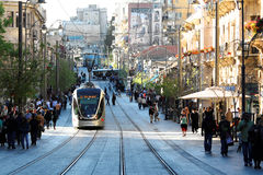 Jerusalem Light Rail Stock Photo