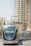 Jerusalem Light Rail tram train. On August 2012 in Jerusalem, Israel Royalty Free Stock Images