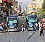 Jerusalem Light Rail Stock Photography