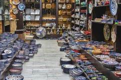 jerusalem Litet shoppa i den gamla staden arkivfoton