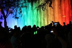 Jerusalem ljusfestival Arkivfoton