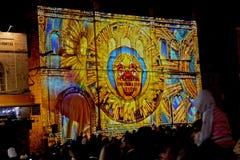 Jerusalem ljusfestival Royaltyfri Bild
