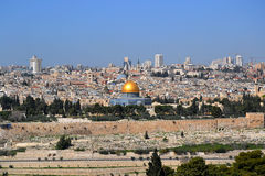 Jerusalem. Located on a plateau in the Judean Mountains between the Mediterranean and the Dead Sea, is one of the oldest cities in the world. It is considered Royalty Free Stock Photography