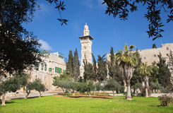 Jerusalem - The look from the Temple Mount to minaret Royalty Free Stock Photos