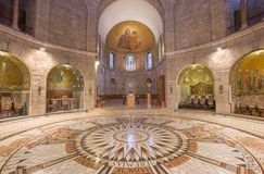 Jerusalem -The main nave of The Dormition abbey Stock Photos