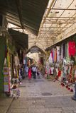 JERUSALEM - March 29,2013:  East market on narrow streets in Jer Royalty Free Stock Image