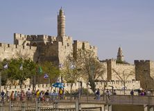 JERUSALEM - March 29,2013: Street scene in old town of Jerusalem Royalty Free Stock Image