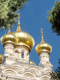 Jerusalem Maria Magdalena Church das Gold wölbt sich im Januar 2008 Lizenzfreie Stockfotografie