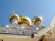 Jerusalem Maria Magdalena Church guld- kupoler Januari 2008 Fotografering för Bildbyråer