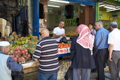 Jerusalem market Royalty Free Stock Photos