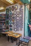 Jerusalem market in Old City, ceramics Royalty Free Stock Photo