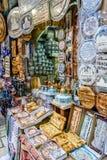 Jerusalem market in Old City, gift shop Royalty Free Stock Images