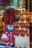 Jerusalem market in Old City, sandals Stock Images