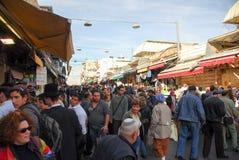 Jerusalem marknad som shoppar Arkivfoton