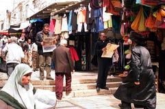 Jerusalem marknadsför den gammala staden Arkivfoto