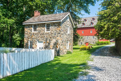 Jerusalem Mill Village Scene. A view of the historic Jerusalem Mill Village in Kingsville Maryland on a nice Summer day Stock Images