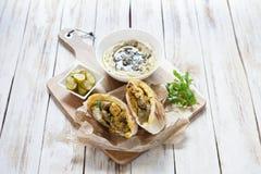 Jerusalem mixed grill or Meorav Yerushalmi. Israeli cuisine. Royalty Free Stock Images