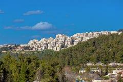 Jerusalem modern apartment houses Stock Image