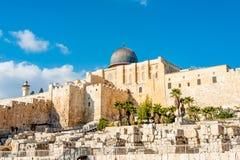 jerusalem monteringstempel Royaltyfri Bild