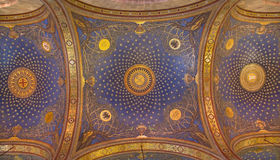 Jerusalem - The mosaic ceiling in The Church of All Nations (Basilica of the Agony) Stock Image