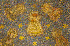 Jerusalem - The mosaic of Madonna in side apse of Dormition abbey Stock Image