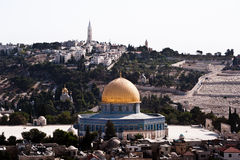 Jerusalem and Mount of Olives Royalty Free Stock Images