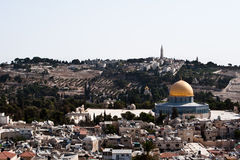 Jerusalem and Mount of Olives Royalty Free Stock Image