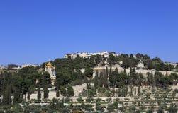 Jerusalem Mount of Olives kyrkor royaltyfria bilder