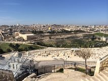 Jerusalem from Mount of Olives Stock Images