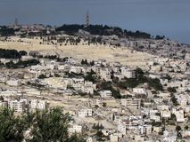 Jerusalem Mount of Olives panorama 2012 fotografering för bildbyråer