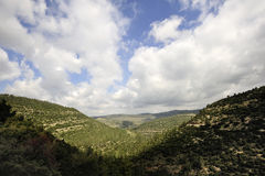 Jerusalem mountains at spring, Israel Stock Image