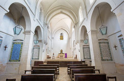 Jerusalem - The nave in Church of the Pater Noster on Mount of Olives. Stock Photography