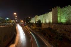 Jerusalem at night Stock Images