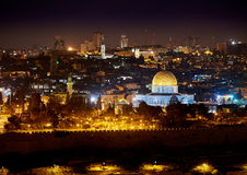 Jerusalem at Night Stock Photos