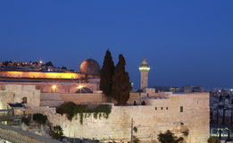 Jerusalem. In the night, Israel Royalty Free Stock Photography