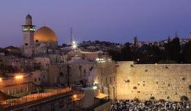 Jerusalem. In the night, Israel Stock Image