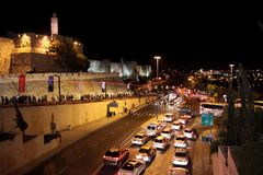 Jerusalem at night Stock Images