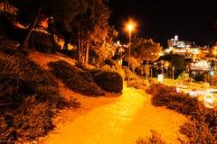 Jerusalem by night stock images