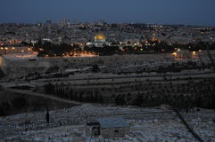 Jerusalem by night Royalty Free Stock Photos