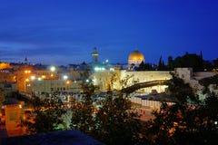 Jerusalem. Night scene of Old City in Jerusalem Stock Images