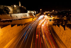 Jerusalem, Nightshot Fotografia de Stock Royalty Free