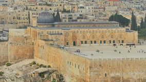 Jerusalem. Old Al-Aqsa Mosque on the Temple Mount Stock Images
