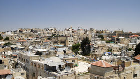 Jerusalem old city. A view of the Jerusalem old city from the window of \Polish House Stock Photo