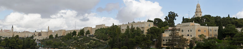 Jerusalem Old City. Walls Panorama royalty free stock photography