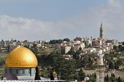 Jerusalem Old City. Golden mosque Stock Images