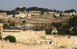 Jerusalem old city - al aqsa m. Osque on a temple mount Royalty Free Stock Images