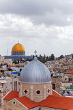 Jerusalem Old City from Austrian Hospice Roof. Israel Royalty Free Stock Images