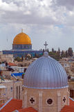 Jerusalem Old City from Austrian Hospice Roof. Israel Royalty Free Stock Photos