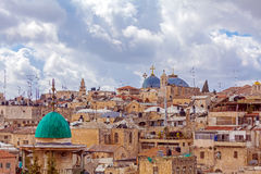 Jerusalem Old City from Austrian Hospice Roof. Israel Royalty Free Stock Photo