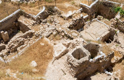 Jerusalem old city. Excavations in the Old City of Jerusalem Royalty Free Stock Photo
